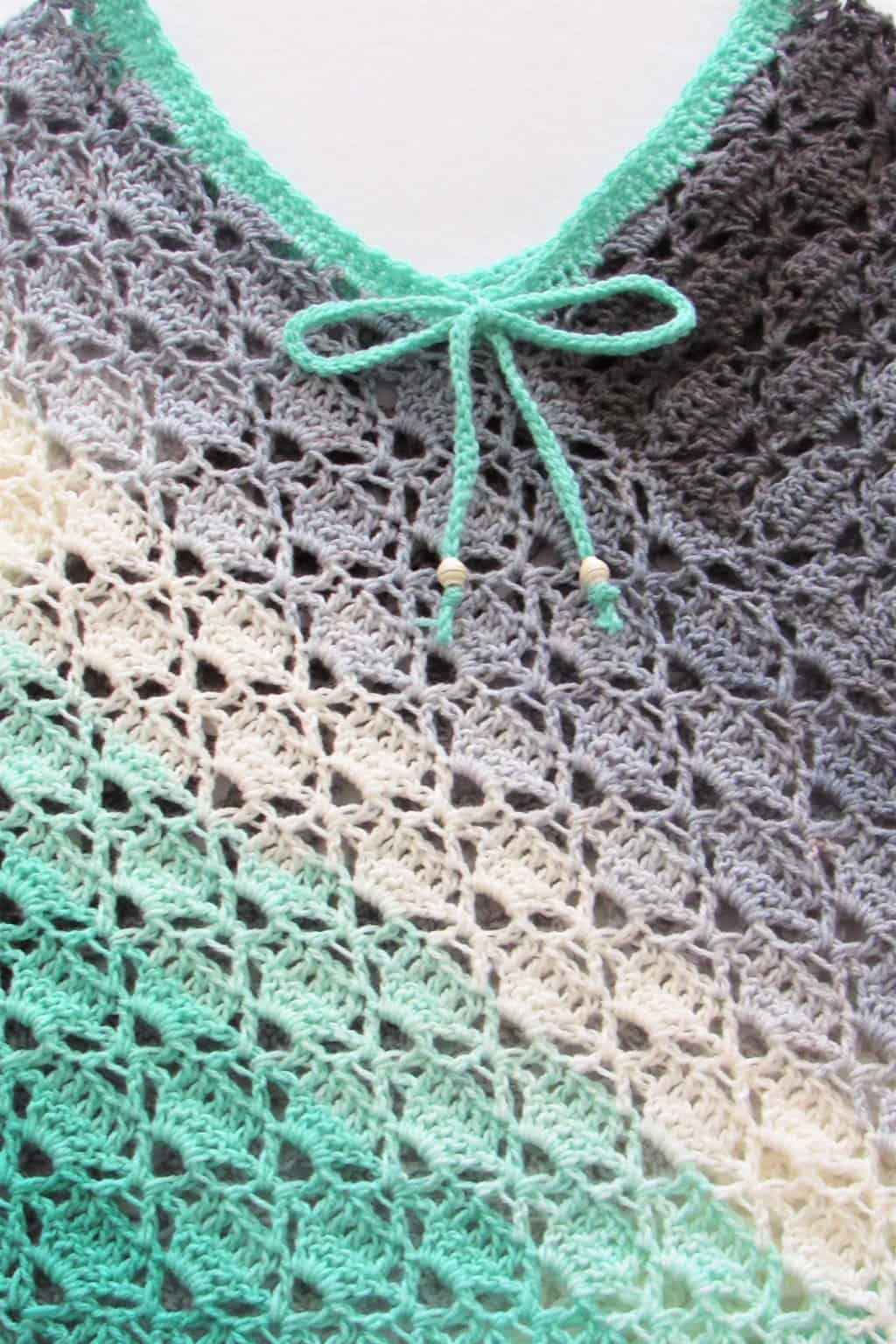 Lacy Crochet Summer Poncho Stitch