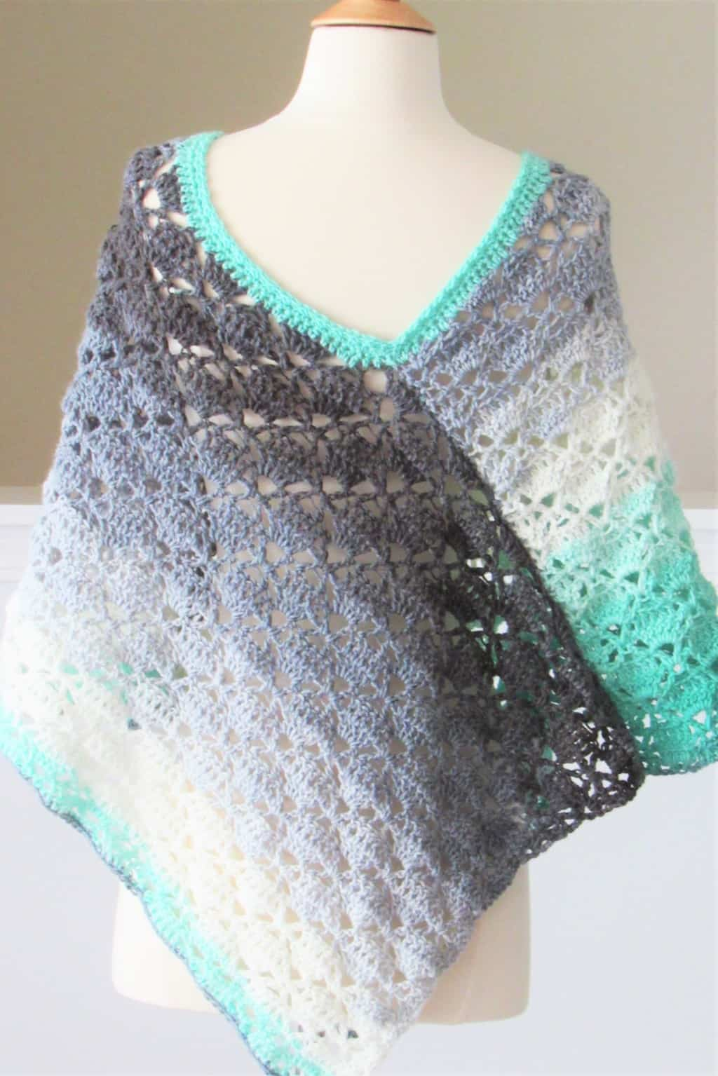 Back of Crochet Summer Poncho