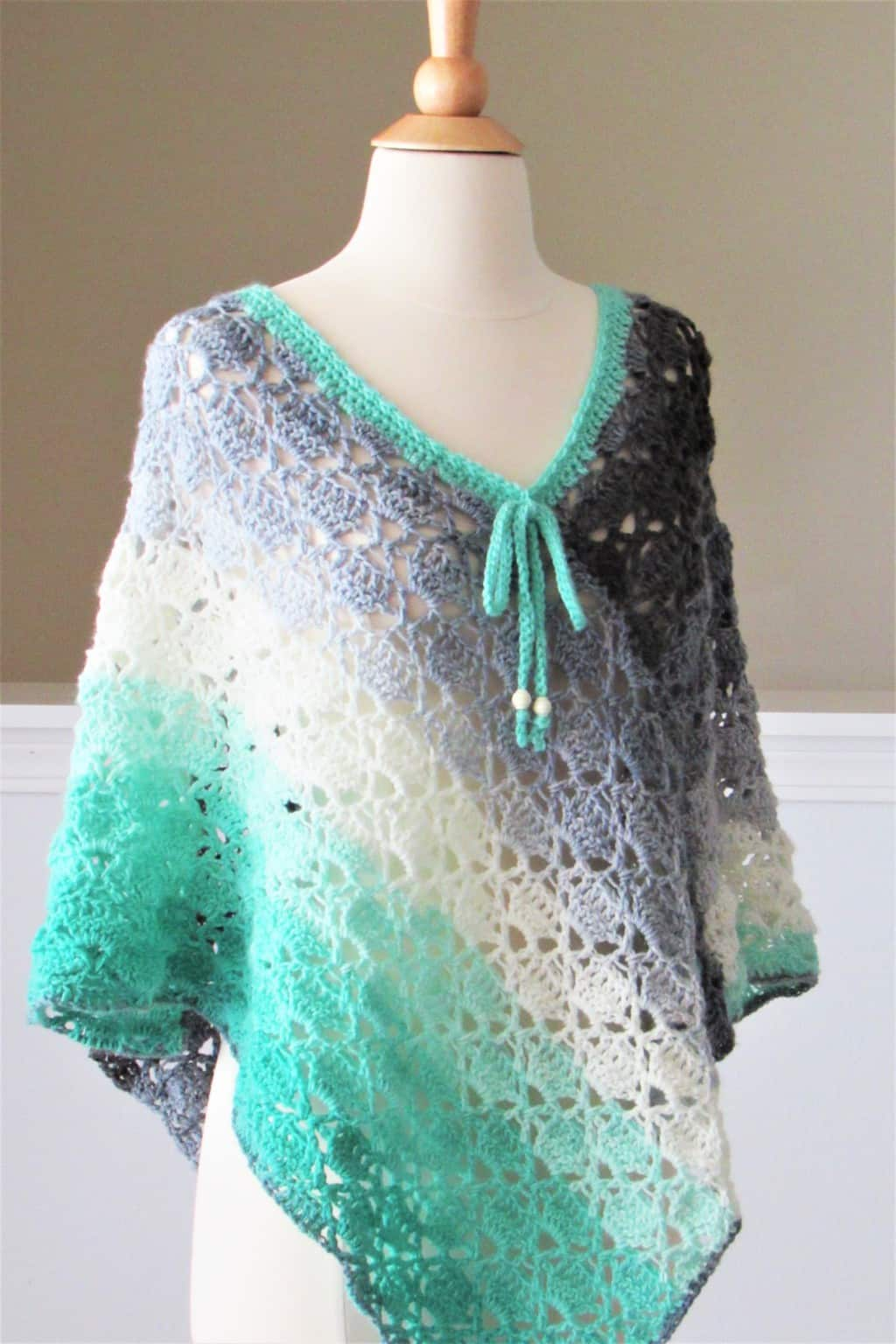 Easy Crochet Summer Poncho