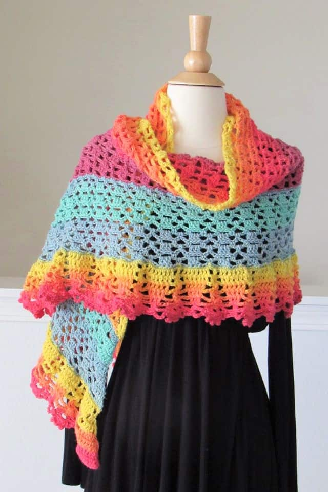 Large Crochet Shawl Pattern