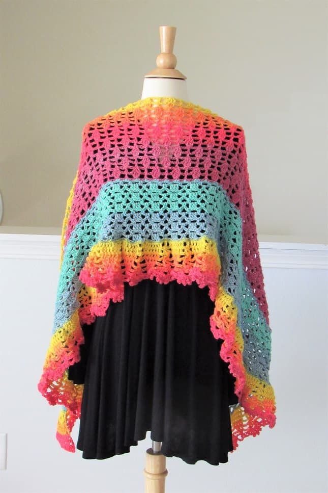 Lacy Shawl Crochet Pattern