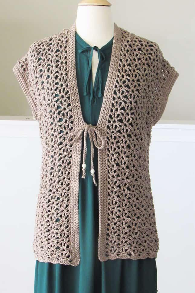 Lacy Crochet Cardigan Pattern for Women