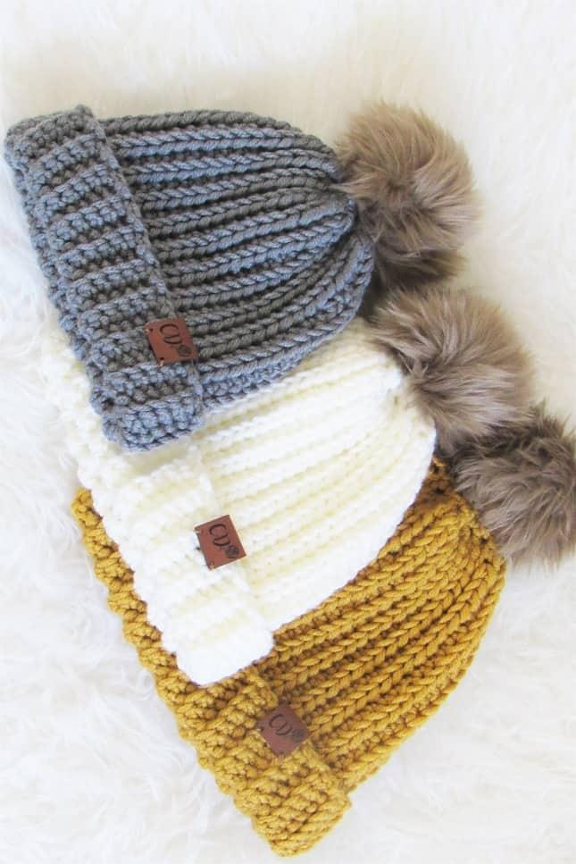 Crochet Ribbed Beanie Pattern