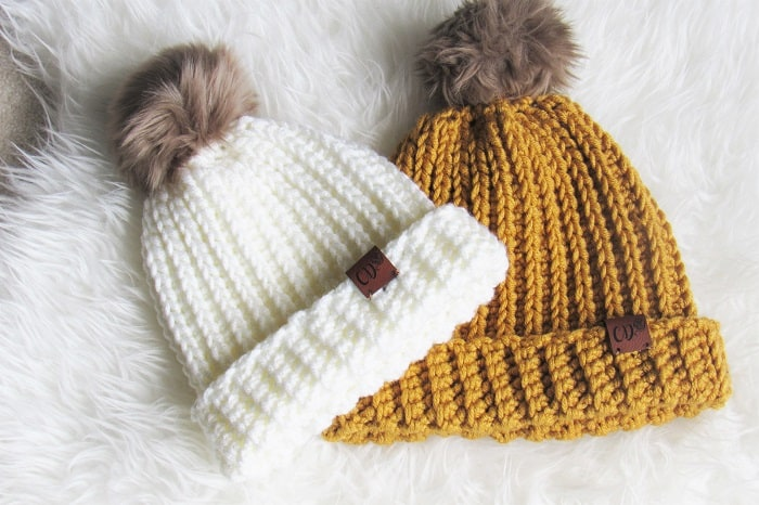 Free Crochet Ribbed Beanie Pattern