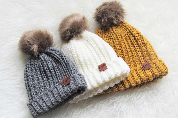 Ribbed Crochet Hat
