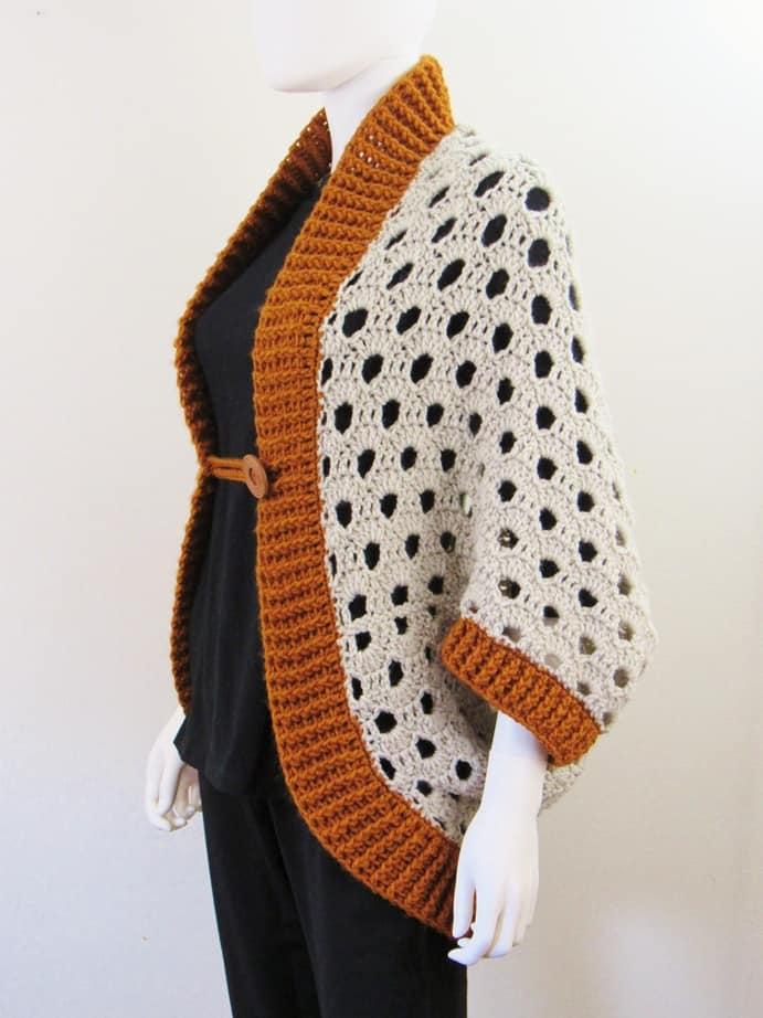 beginner crochet cardigan