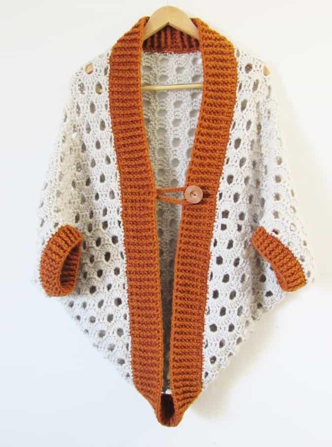beginner crochet cardigan pattern free