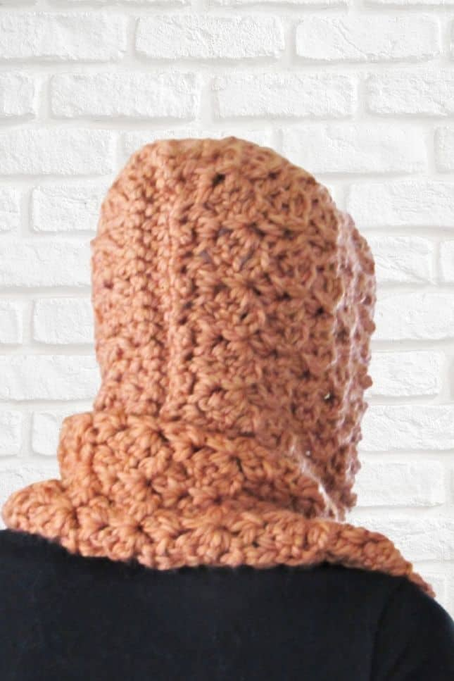 Easy Crochet Hooded Scarf with Pockets