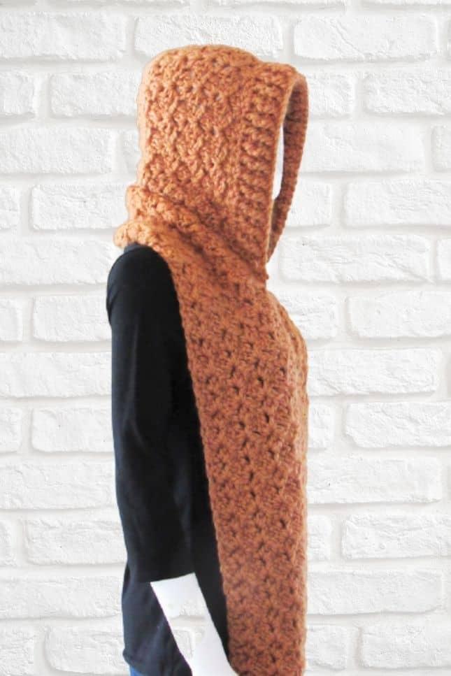 Hooded Pocket Scarf Crochet Pattern
