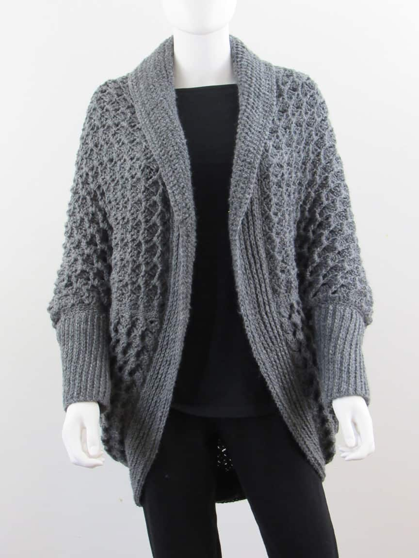 crochet blanket cardigan