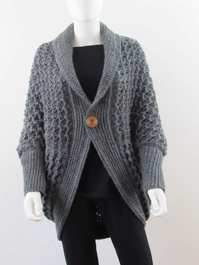 crochet blanket cardigan free pattern