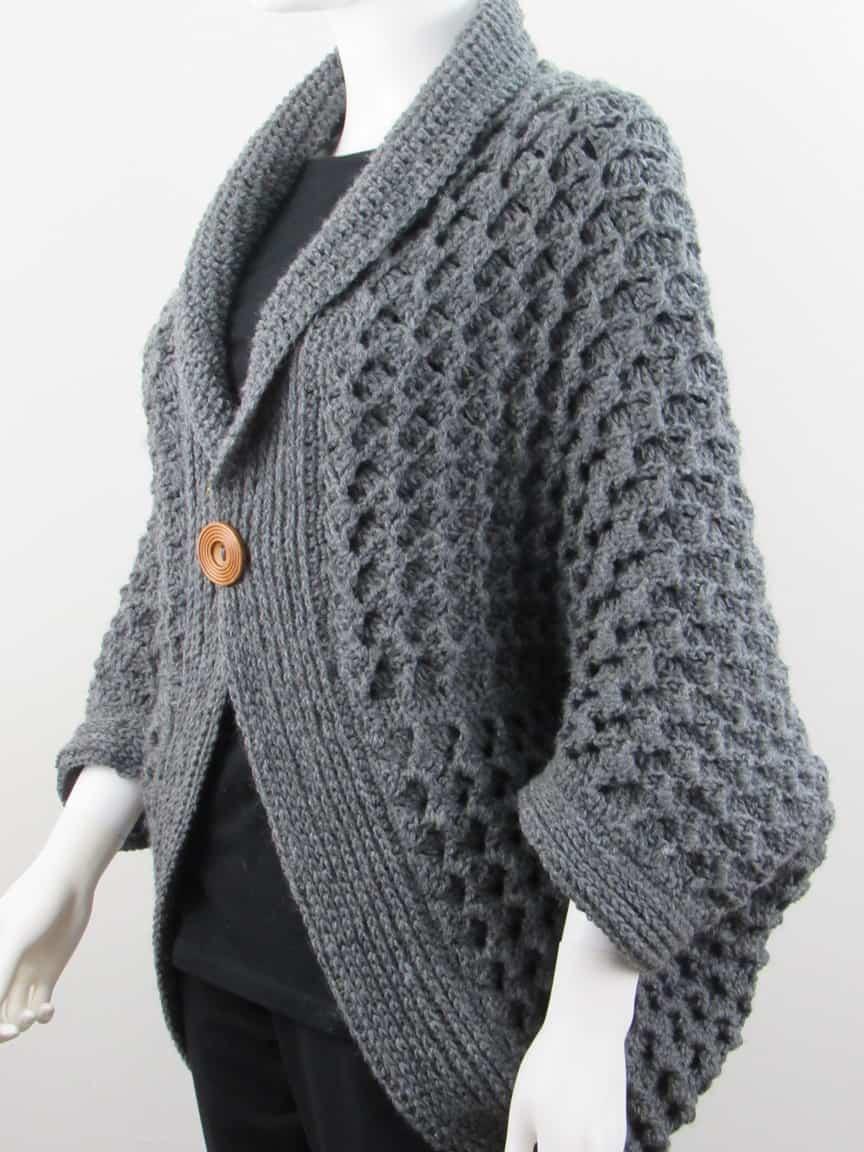 diy crochet blanket cardigan