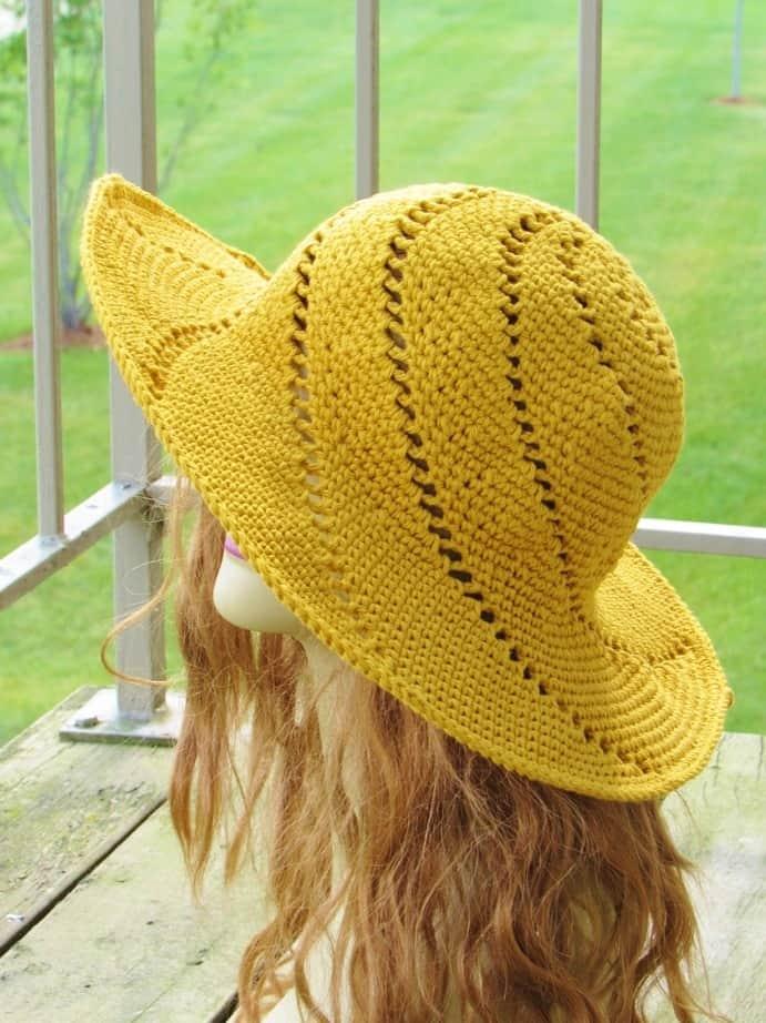 simple crochet summer hat