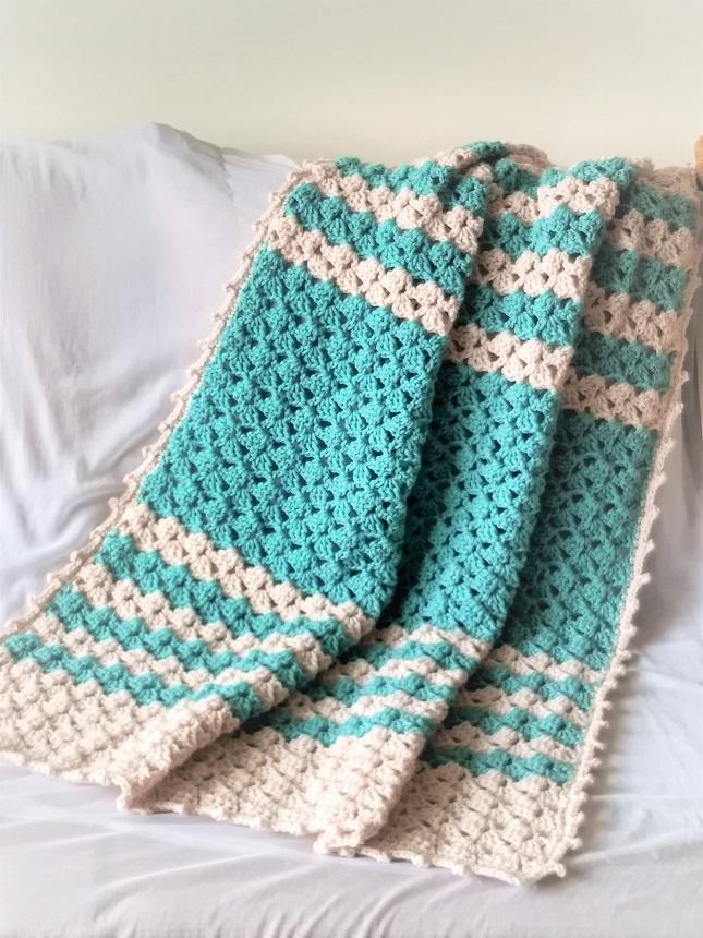 Free Crochet Lacy Blanket Pattern