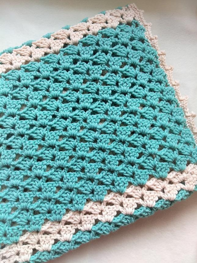 lacy baby blanket crochet pattern free