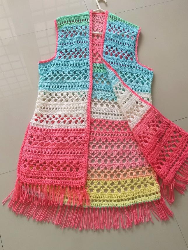 Free pattern for crochet bohemian vest