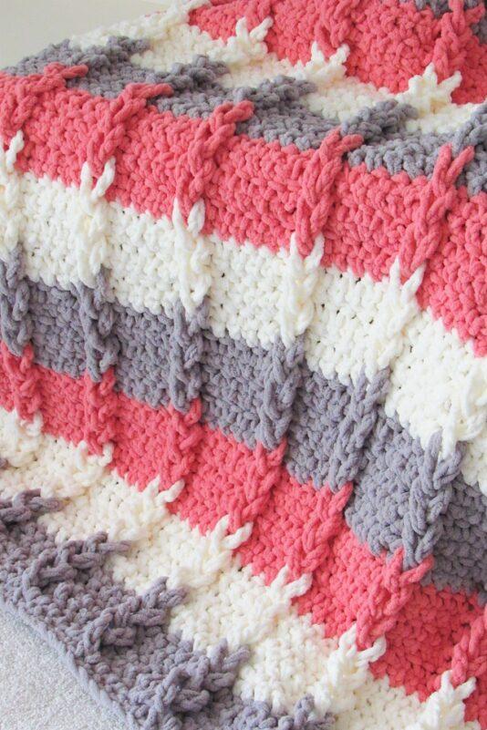 crochet braided blanket pattern