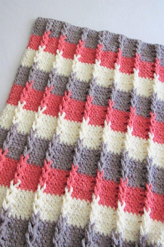crochet braided blanket