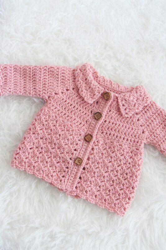 free baby cardigan crochet pattern