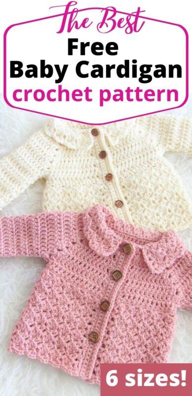 Crochet Baby Cardigan Pattern Free